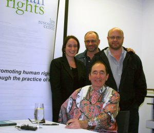 Albie Sachs, Gabi Crafti, Michael Barnett & Gregory Storer (photo by Gaby Jung); Sep 20 2010