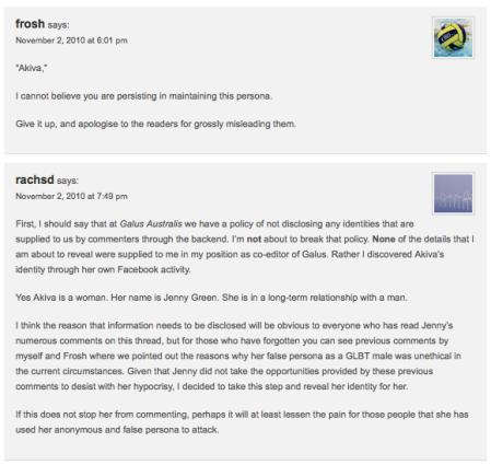 Ant Frosh and Rachel Sacks-Davis out 'Akiva'