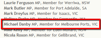 Michael Danby MP - Melbourne Ports - supporting Marriage Equality
