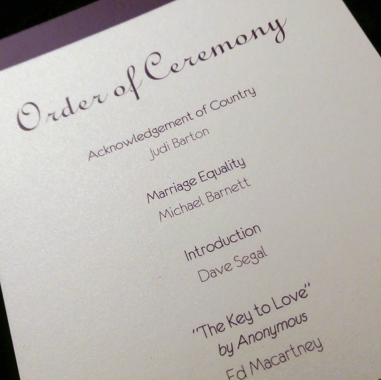Order Of Speeches At A Wedding: Put A Marriage Equality Statement In Your Wedding Ceremony