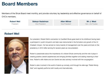 Robert Weil - President - CHC