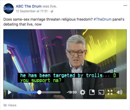 ABC The Drum David Marr Trolls (Sep 12 2017)
