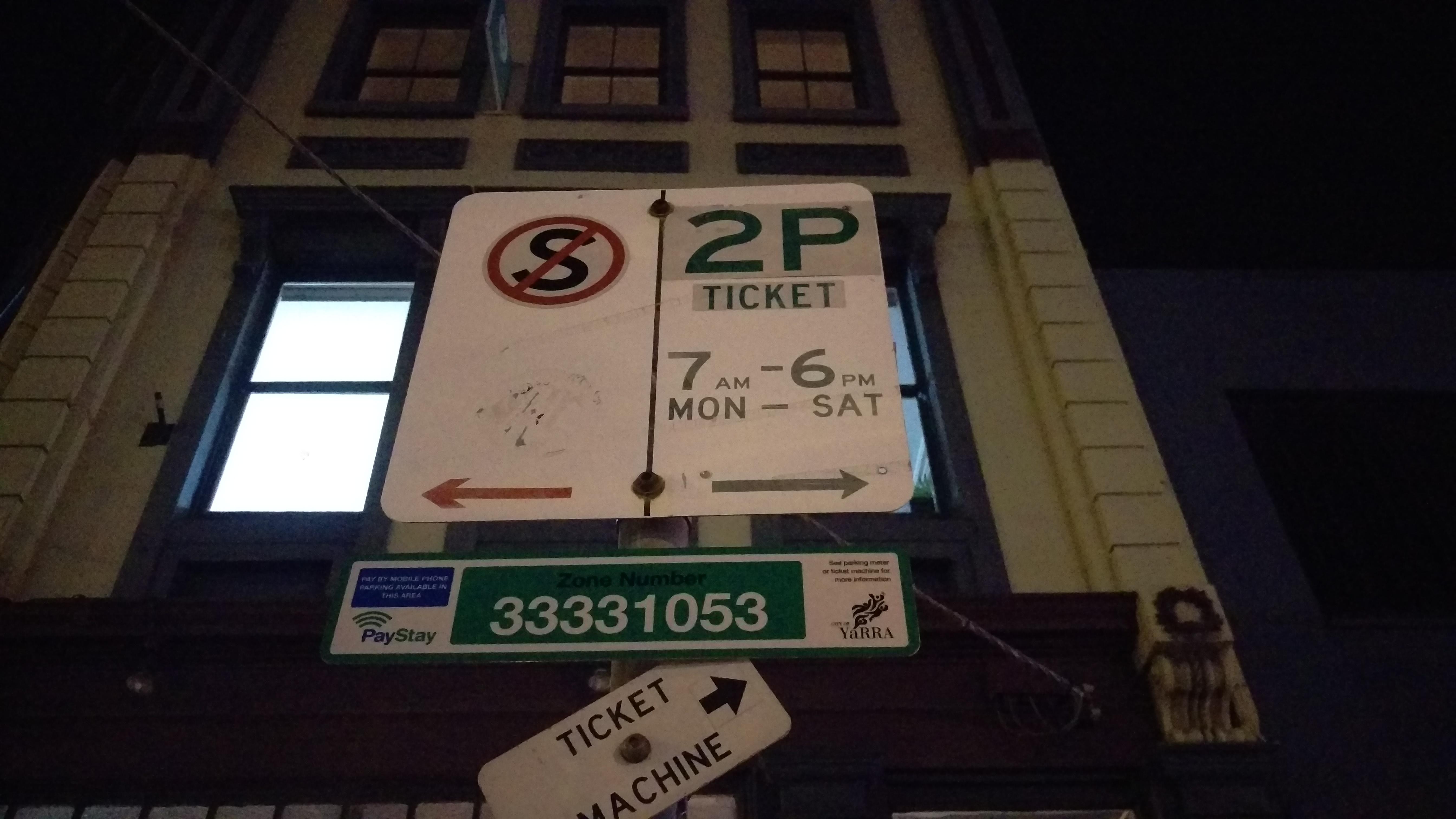 Zone 33331053 / 2P TICKET / 7AM - 6PM MON - SAT