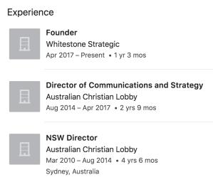 David Hutt LinkedIn experience