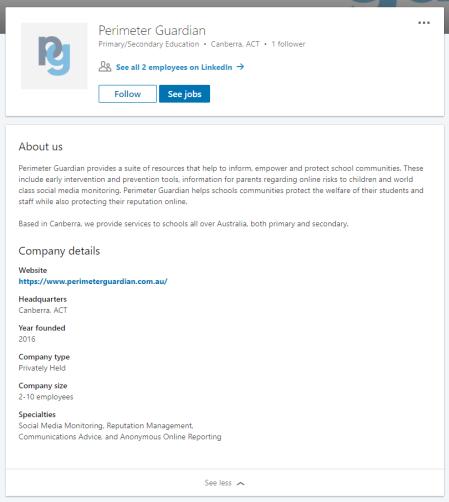 Perimeter Guardian LinkedIn