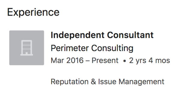 Stephen Doyle Perimeter Consulting