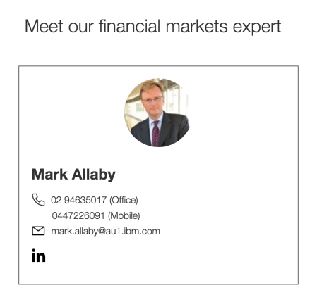 20180707 Mark Allaby IBM Financial Market Expert